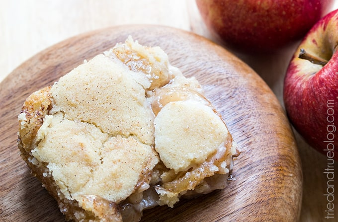 These Apple Pie Snickerdoodle Bars are ooey, gooey, and super delicous!