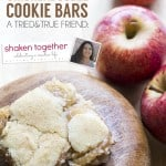 Apple Pie Snickerdoodle Cookie Bars