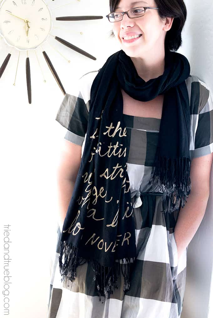 Love Song Bleached Scarf Tutorial - Ready to go!