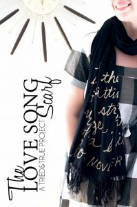 Love Song Bleached Scarf Tutorial - An easy way to add wording or images to a scarf!