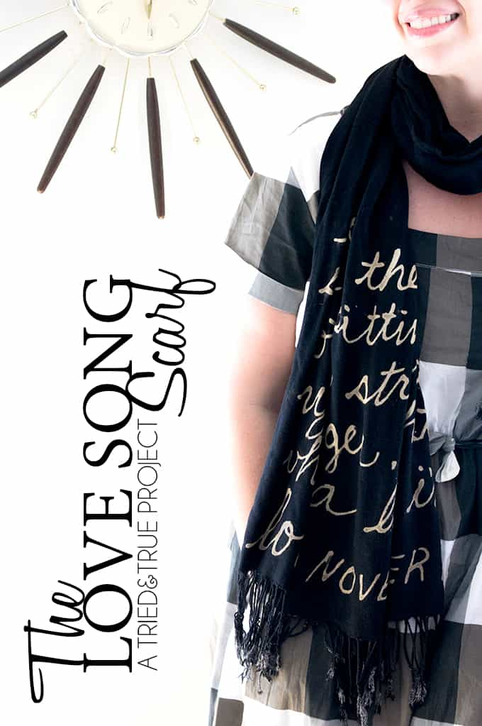 Love Song Bleached Scarf Tutorial
