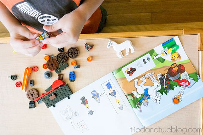 Building with Legos & Creativity Free Printable - Directions
