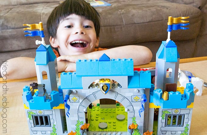 Building with Legos & Creativity Free Printable - He did it!