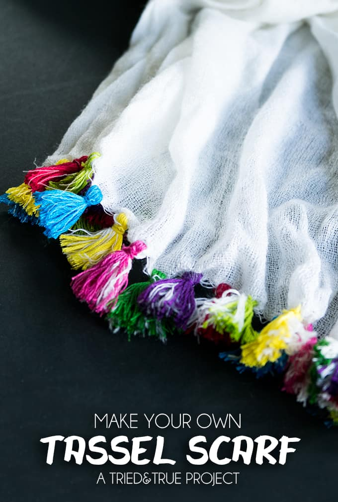 Make Your Own Tassel Scarf!