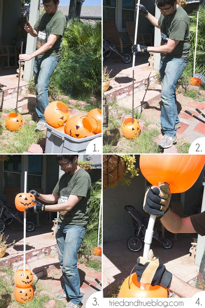 How To Make A Halloween Pumpkin Archway: Assembly