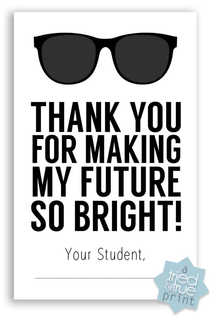 Neon Sharpie Teacher's Gift - Free Printable