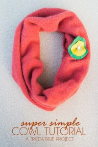 Super Simple Cowl - How to make a scarf in under 10 minutes! #scarf