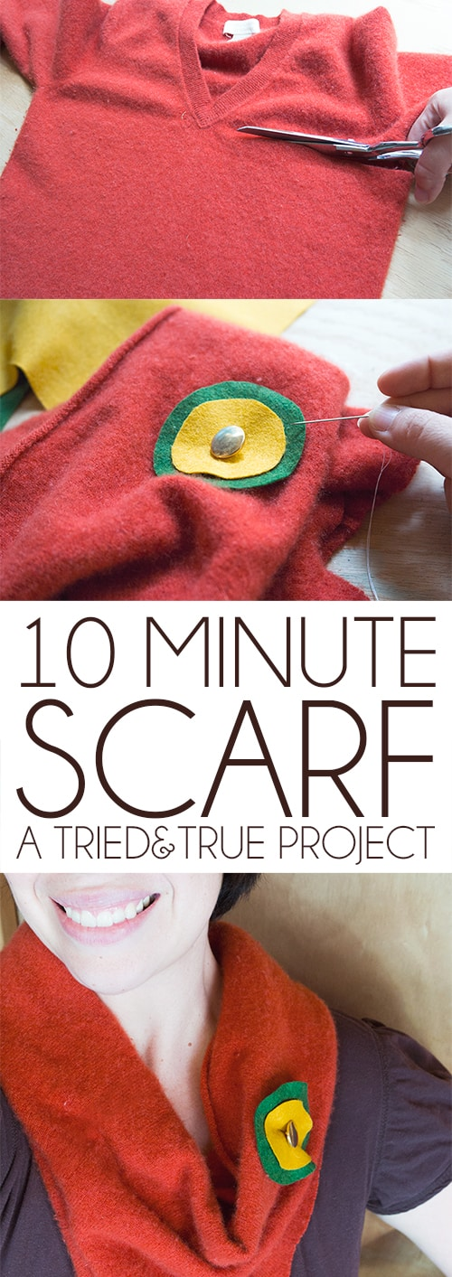 Super Simple Cowl - You will not believe how easy it is to make a scarf in 10 minutes! #scarf #easycrafts