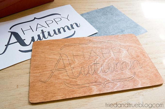 Autumn Art with Dremel - Transfer image