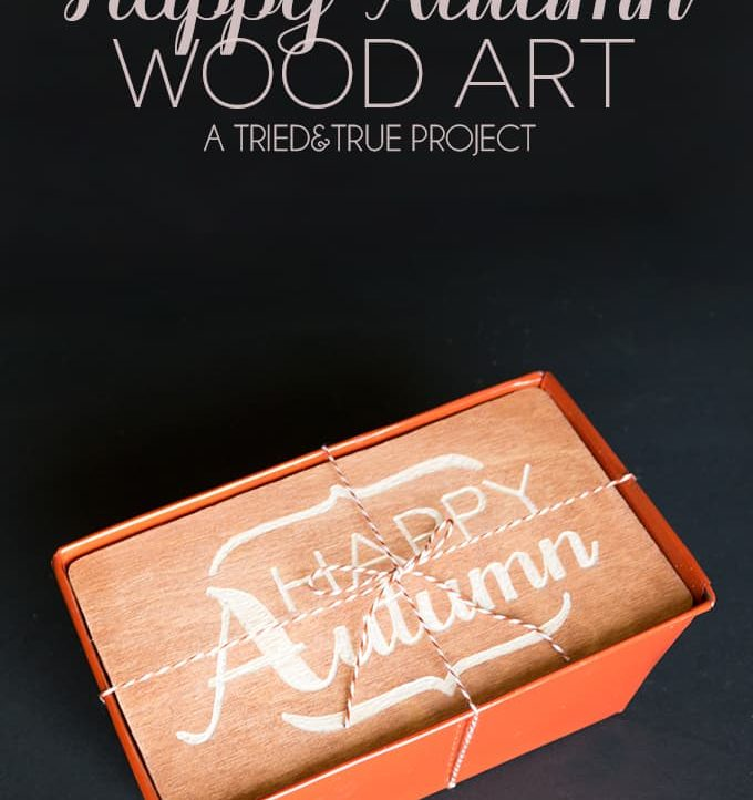 Add a custom Autumn art top to a metal tin to make the perfect gift!