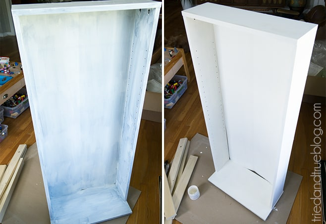 Converting Cheap Furniture with Chalky Finish Paint - Coats