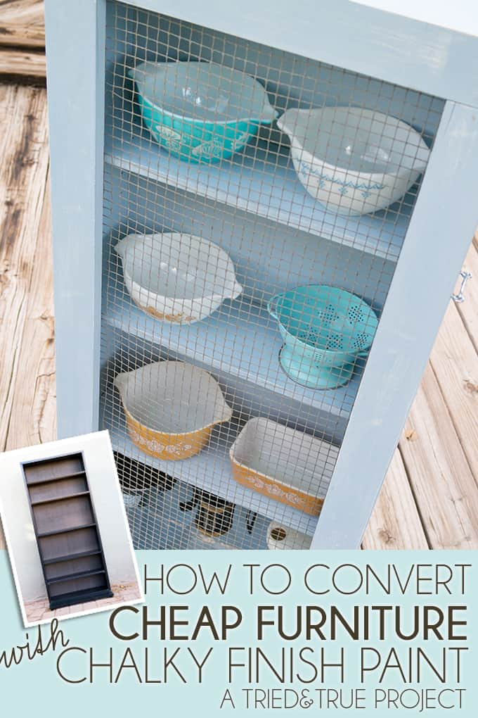 How to use Chalky Finish to turn a cheap CD storage case into a gorgeous farm house chic cabinet!