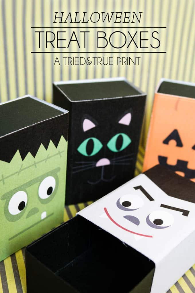Print out these free Halloween Treat Boxes from Tried & True this year! Four different designs with tons of different uses!