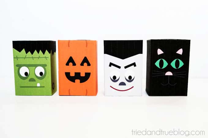 Halloween Treat Boxes - 4 different designs!