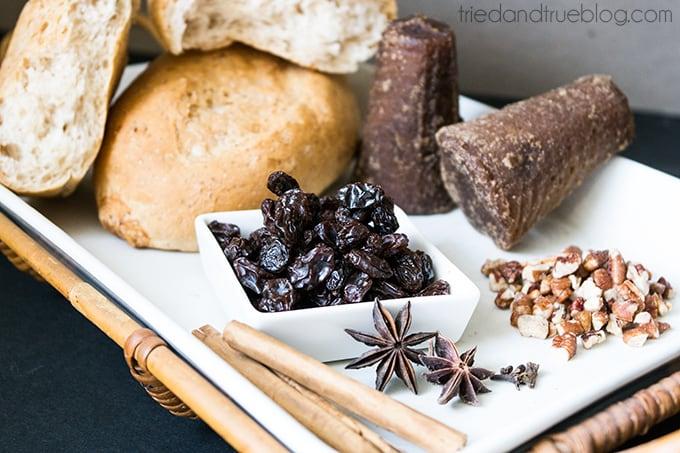 Mexican Bread Pudding (Capriotada) - Ingredients