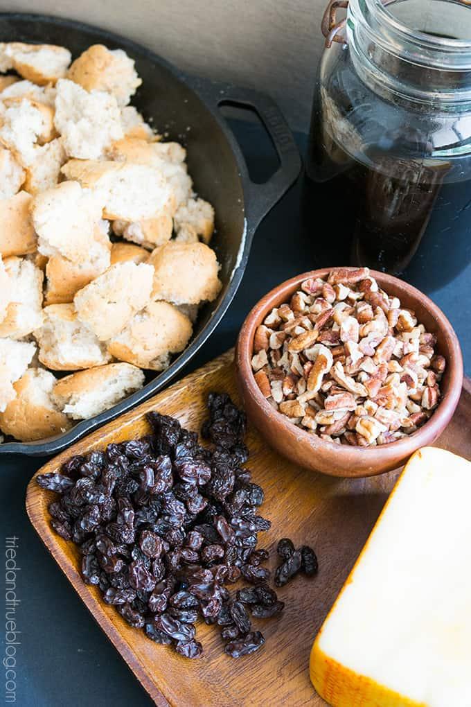 Mexican Bread Pudding (Capriotada) - Layers