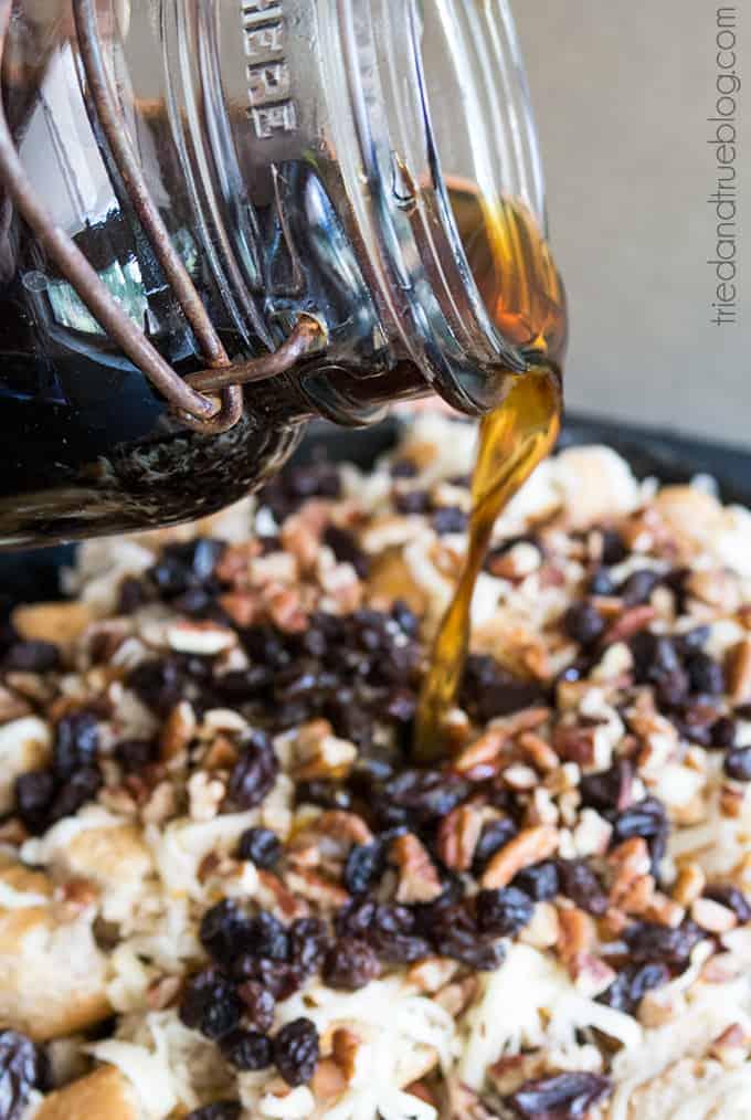 Mexican Bread Pudding (Capriotada) - Syrup