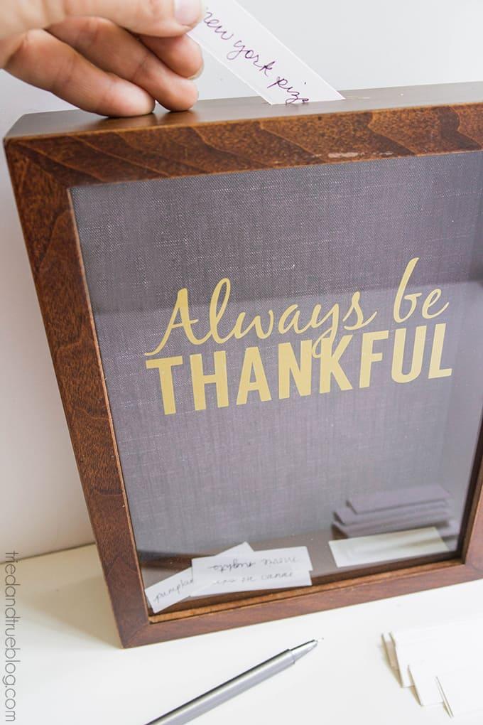 Always Be Thankful Gratitude Frame - Insert