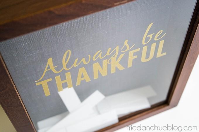 Always Be Thankful Gratitude Frame - Always
