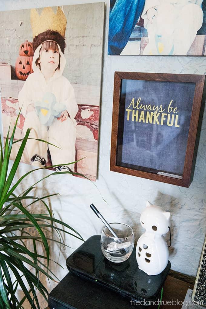 Always Be Thankful Gratitude Frame - Hung