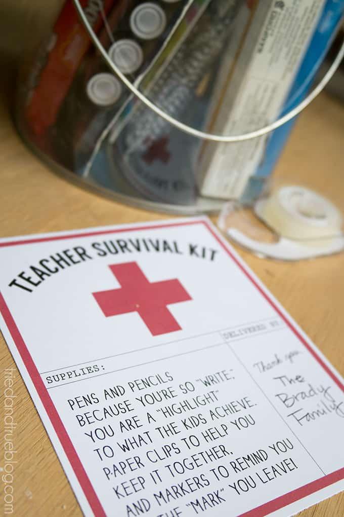 Teacher Survivial Kit - Attach
