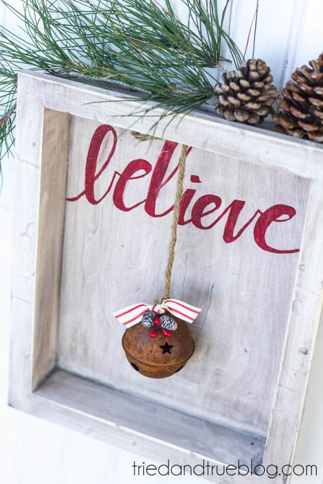 """""""Believer"""" Rustic Christmas Art - Ready to hang!"""