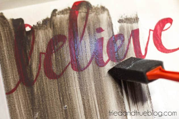 """""""Believer"""" Rustic Christmas Art - Second Stain"""