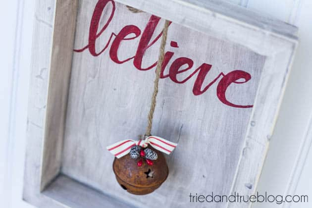 """""""Believer"""" Rustic Christmas Art - Completed"""