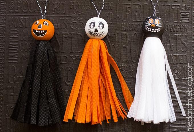 Vintage Halloween Tassels - Ready to hang!