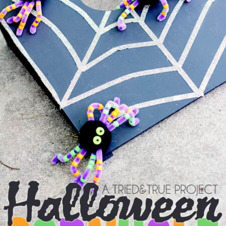 Entertain all the little ghouls and witches with this super fun Cornhole Halloween Party Game! You can even have the kids make and take the spiders!