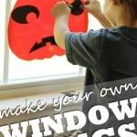 Super Easy Halloween Window Clings