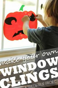 A super easy way to entertain your kids for Halloween. Totally reusable and fun!
