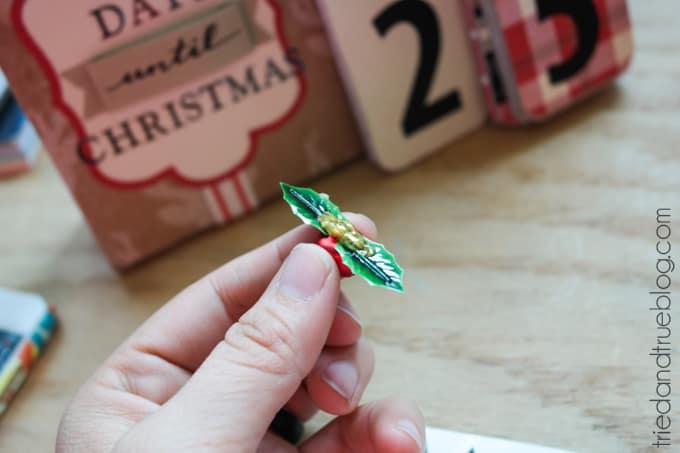 Christmas Countdown Flip Calendar - Embellish