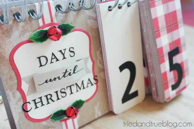 Christmas Countdown Flip Calendar - Countdown