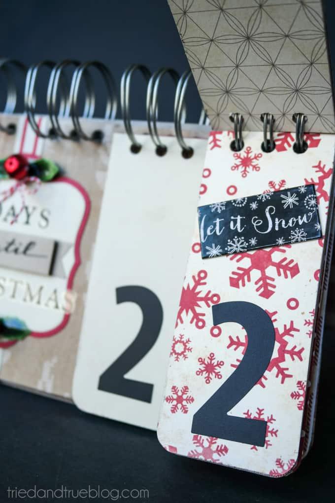 Christmas Countdown Flip Calendar - Stickers