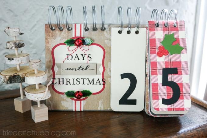 Christmas Countdown Flip Calendar - In Use