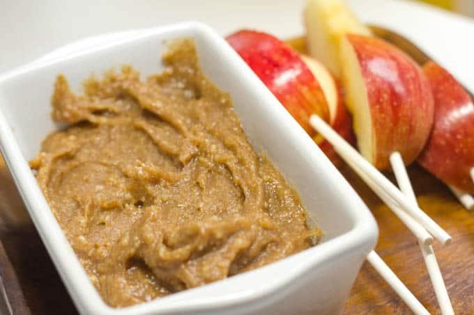 Healthy Caramel Dip - Apple Pops