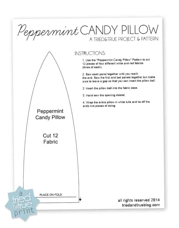 Peppermint Candy Pillow - Pattern