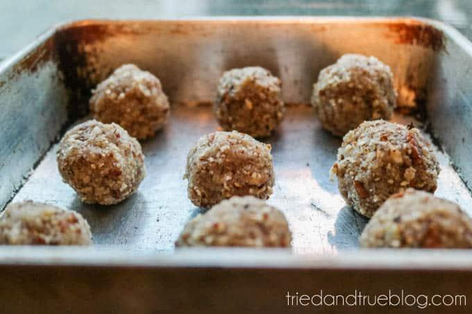 Healthy Biscochos (Mexican Wedding Cookies) - Row
