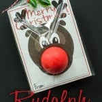 Rudolph Easy Christmas Gift: A super easy gift to give a friend or coworker. A perfect stocking stuffer!