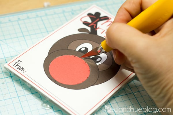 Rudolph Easy Christmas Gift - Cut