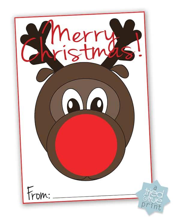 Rudolph Easy Christmas Gift - Print
