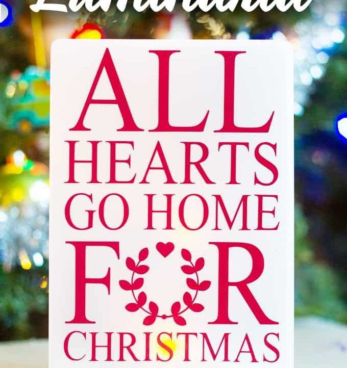 """""""All Hearts Go Home"""" Luminaria & Silhouette Free File - Make this sweet luminaria for Christmas with the free Silhouette file!"""