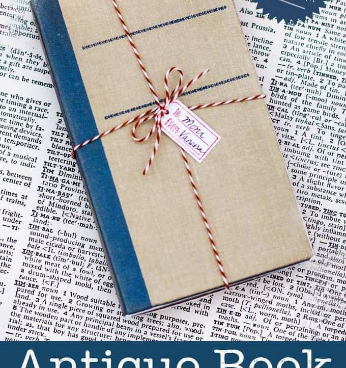 This adorable diy Last Minute gift box looks exactly like an antique book! Perfect for the book lover in your life!