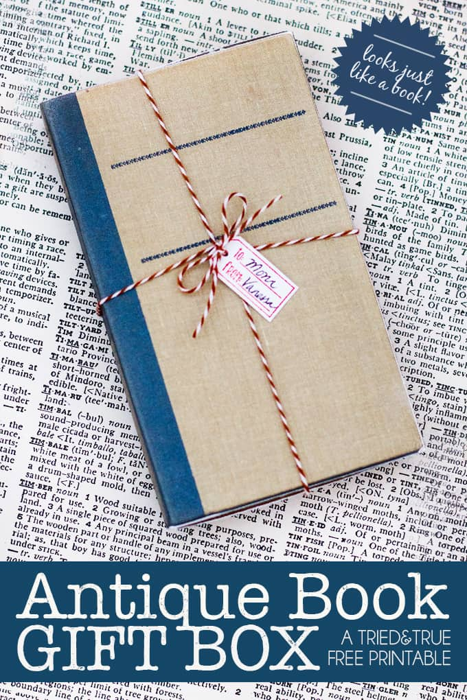 This adorable diy gift box looks exactly like an antique book! Perfect for the book lover in your life!