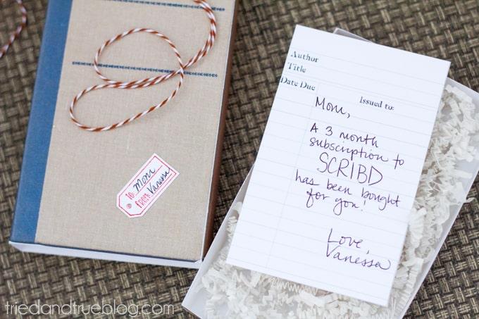 Antique Book DIY Gift Box - Card