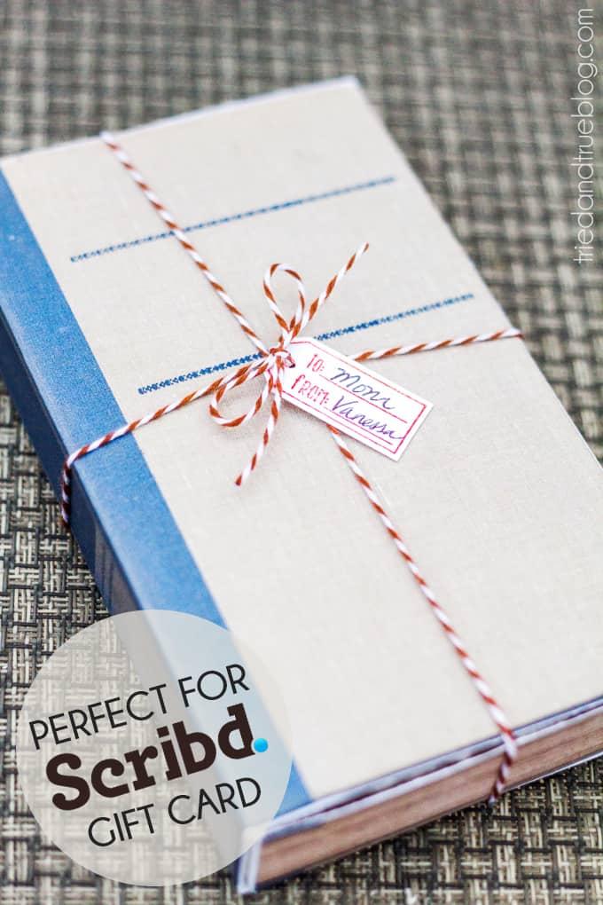 Antique Book DIY Gift Box - Gift Card