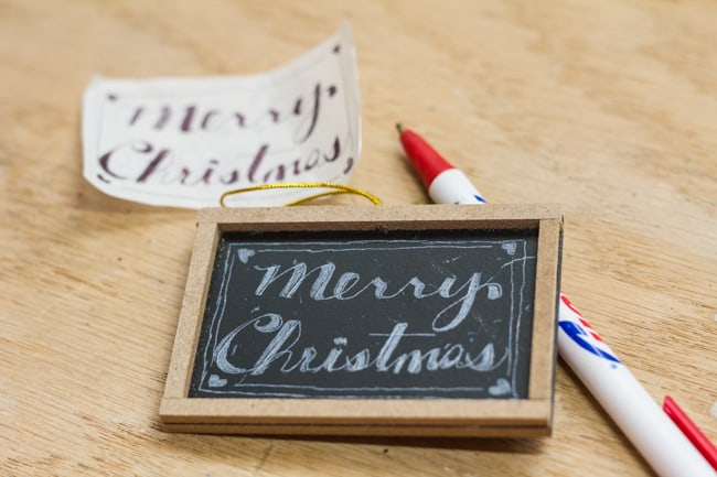 Chalkboard Gift Tags and Ornaments - Faux chalk