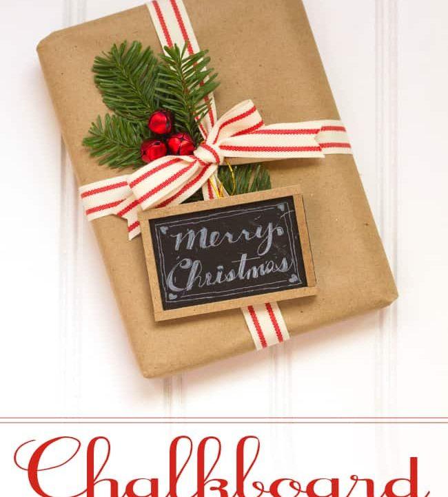 Chalkboard Gift Tags and Ornaments - Super easy way to embellish your presents and then reuse as an ornament!