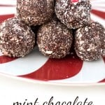 Healthy Peppermint Chocolate Protein Balls